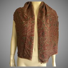 Vintage Paisley Oblong Tube Scarf