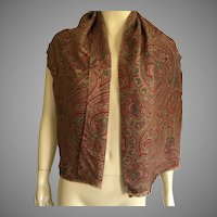 Vintage Silk Paisley Oblong Tube Scarf