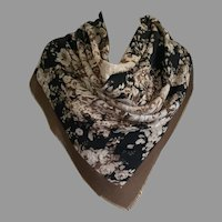 REDUCED Large Square Floral Scarf Made In Italy