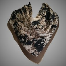 Large Square Floral Scarf Made In Italy