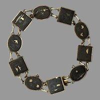 REDUCED Vintage Japanese Damascene Bracelet