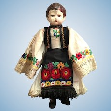 Vintage Hungarian Doll With Native Costume
