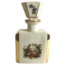 Vintage German Hand Painted Porcelain Perfume Bottle