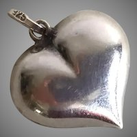 Sterling Silver Puffy Heart Pendant