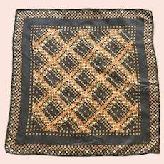 Vintage Modernist Design Silk Scarf By Echo