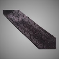 Vintage Purple & Black Silk Fendi Necktie Tie