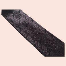 Vintage Purple & Black Silk Fendi Necktie Tie