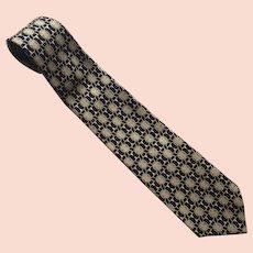 Vintage Paolo Gucci Silk Necktie Tie Made In Italy