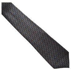 Vintage Silk Gucci Necktie Tie Made In Italy