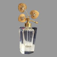 Vintage Clear Glass I.W. Rice Japan & West Germany Perfume Bottle Atomizer