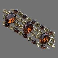 Vintage Wide Dazzling Rhinestone Flexible Bracelet