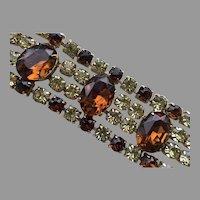 REDUCED Vintage Wide Dazzling Rhinestone Flexible Bracelet