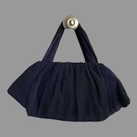 REDUCED Vintage 1940's Pleated Crepe Purse With Lucite Clasp