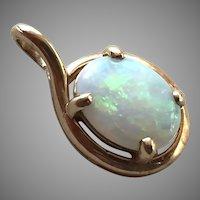 14k Gold & Opal Pendant