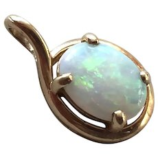 REDUCED 14k Gold & Opal Pendant