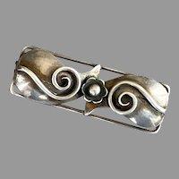 REDUCED Vintage Arts & Crafts Danish Denmark Sterling Bar Pin