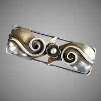 Vintage Danish Denmark Sterling Bar Pin