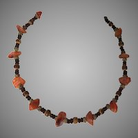 Vintage Natural Agate & Exotic Bead Necklace