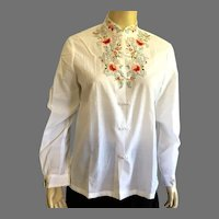 Vintage Chinese Hand Embroidered Blouse
