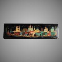 Vintage Russian Lacquer Box With Kremlin Scene Artist Signed