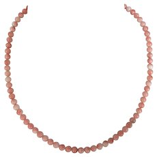 Vintage Peach Angel Skin Coral Beaded Necklace