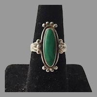 Sterling & Malachite Ring Bell Trading Post