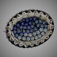 Vintage Italian Micromosaic Floral Pin