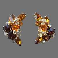 Pair Of Eisenberg Ice Austrian Crystal Earrings
