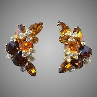 Pair Of Eisenberg Ice Austrian Crystal Earrings
