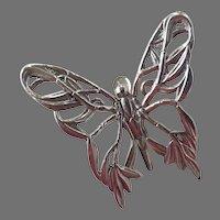 John Hardy Silver Tone Openwork Butterfly Clip