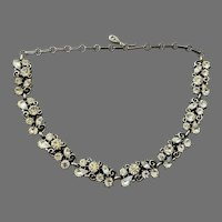 REDUCED Vintage 1950's Lisner Clear Rhinestone Necklace