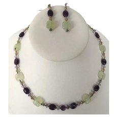 Artist Made Beaded Necklace & Earrings Set