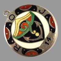 1920's Royal Order Of Jesters Guilloche Enamel Medal