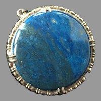 REDUCED Wachenheimer Brothers Sterling Blue Jasper Pin / Pendant