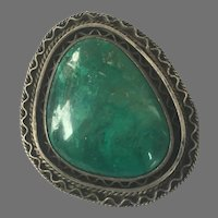 Vintage Israel Silver & Eilat Stone Pin / Pendant