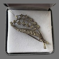 Sterling Marcasite Lilly Of The Valley Pin