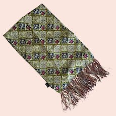 Hand Made Italian Silk Scarf With Fringe