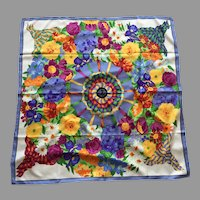 Silk Floral Square Scarf Garden Club Of America 2011 Never Worn
