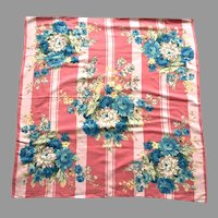 Vintage Echo Cotton & Silk Floral Scarf