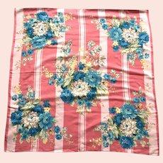 Vintage Echo Cotton & Silk Floral Scarf