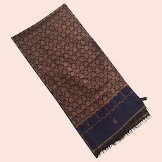 REDUCED Pierre Cardin Maxim's De Paris Wool Reversible Scarf Made In West Germany