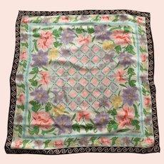 Vintage Diane Von Furstenberg Silk Scarf Floral Scarf