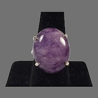 Vintage Sterling Amethyst Quartz Ring