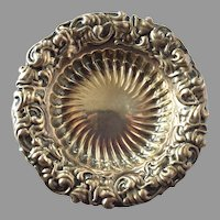 Vintage Whiting Mfg. Co. Sterling Repousse Nut / Candy Dish