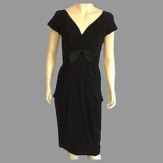 REDUCED Vintage 1950's Seymour Jacobson Black Cocktail Dress