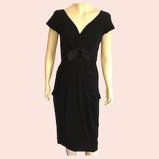 Vintage 1950's Seymour Jacobson Black Cocktail Dress