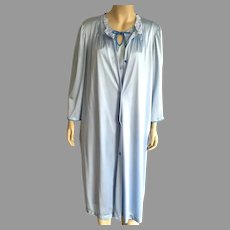 Vintage Vanity Fair Short Light Blue Peignoir Size L