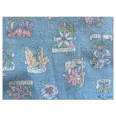 1970's Cranston Print Works Co. Schwartz Leibman Inc. Fabric With Plants Pattern 5 plus yards