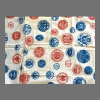 Vintage Patriotic Theme Sewing Fabric By Payne & Co.