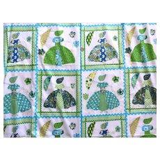 REDUCED Vintage 1970's Gloria Vanderbilt Designed Fabric For Bloomcraft 4 + Yards